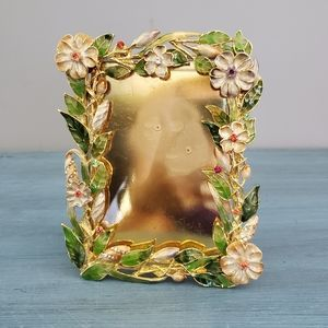 Argento SC Enameled and Jeweled Picture Frame